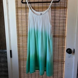 Just From Bali 'cloth 'beads' green ombre Sundress